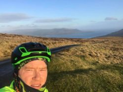 view from cycle over cooley mountains