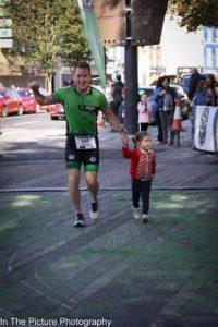 half marathon finisher line photo